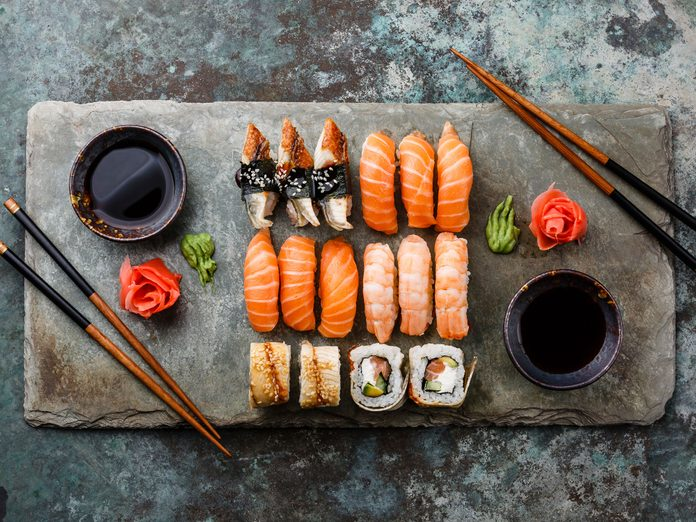 Sushi is the unofficial dish of Vancouver, British Columbia.