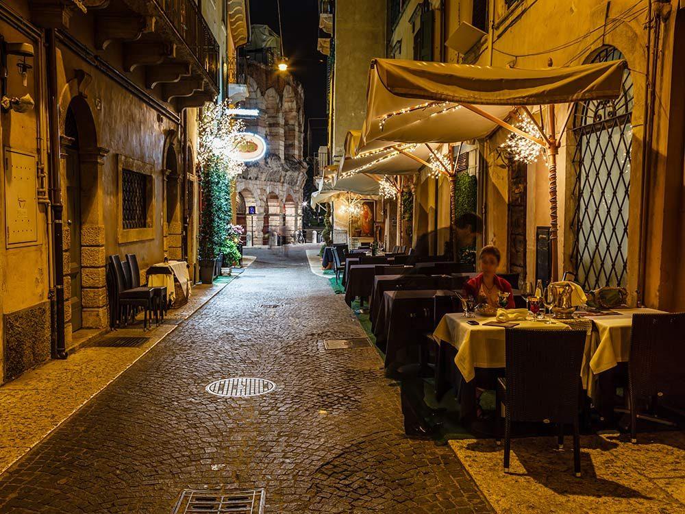 Local bistro in Verona, Italy