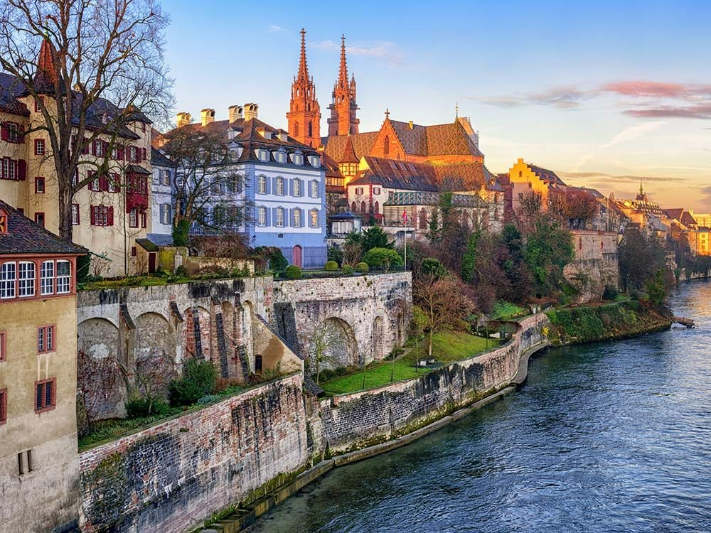 Quaint town in Switzerland