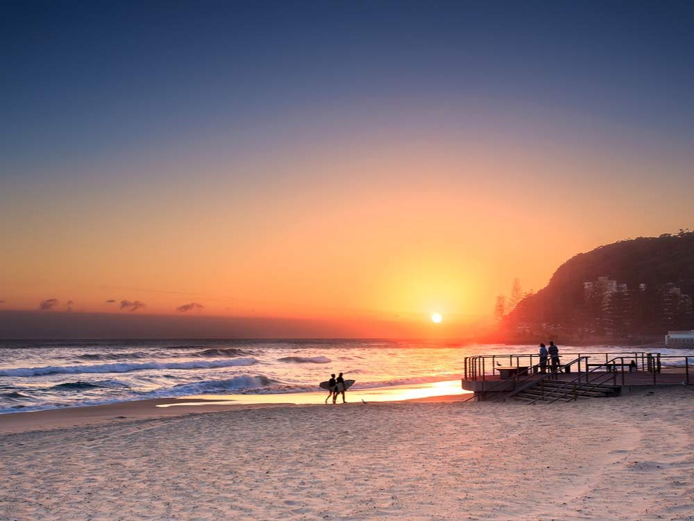 The Gold Coast is one of the best places to watch the sunset
