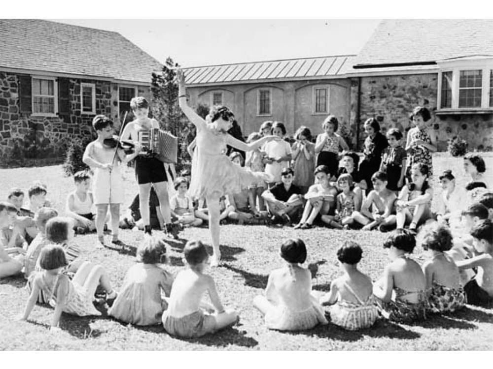 The children play at the Brith Sholom camp in the summer of 1939