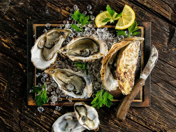 Oysters can increase your libido