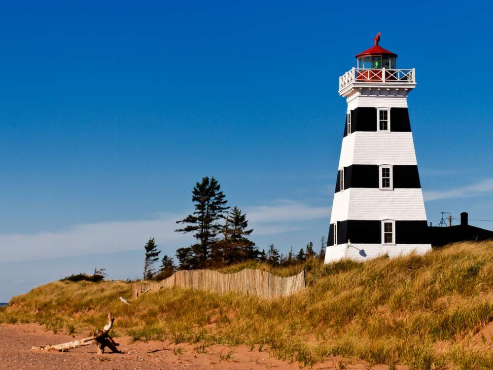 West Point Lighthouse in Prince Edward Island