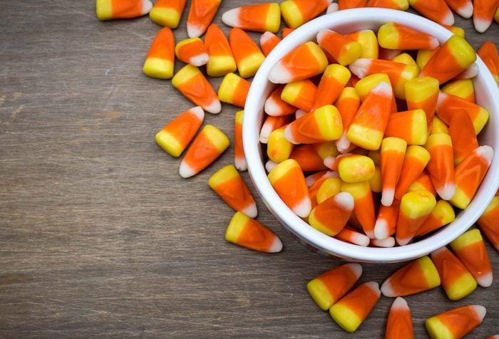 Orange and yellow candy corn