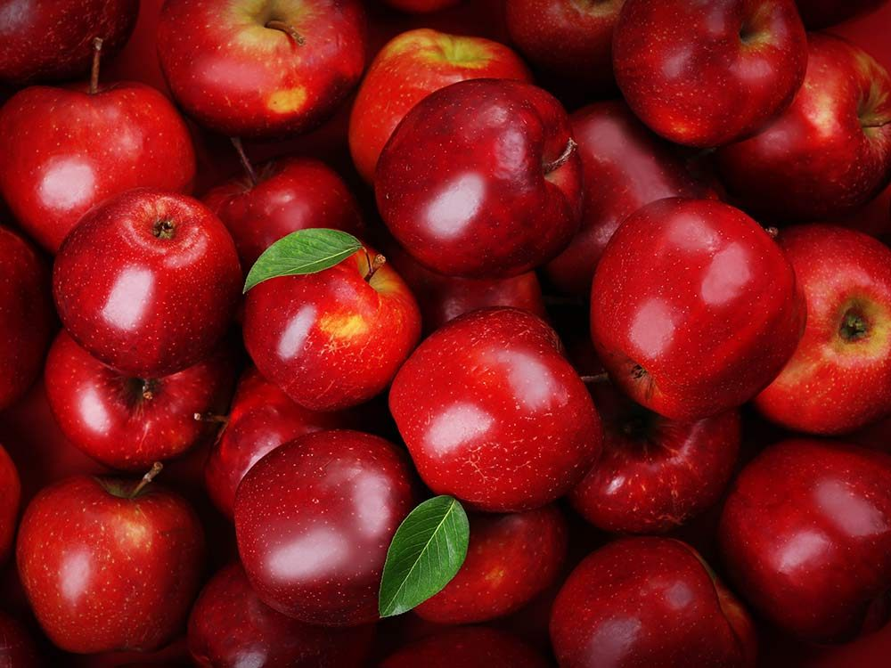 Pile of red apples