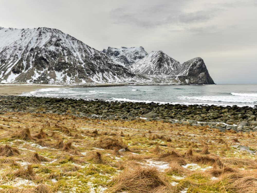 Mountainous Nordic landscape