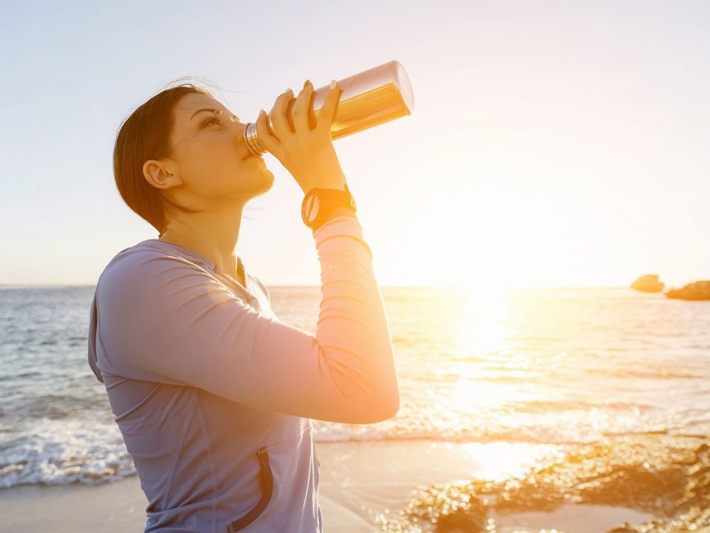 Stay hydrated to prevent headaches