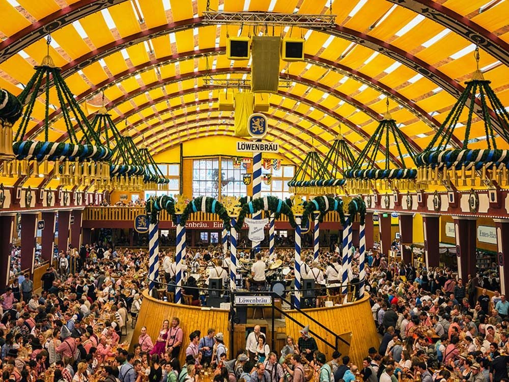 Annual Oktoberfest gathering in Munich, Germany