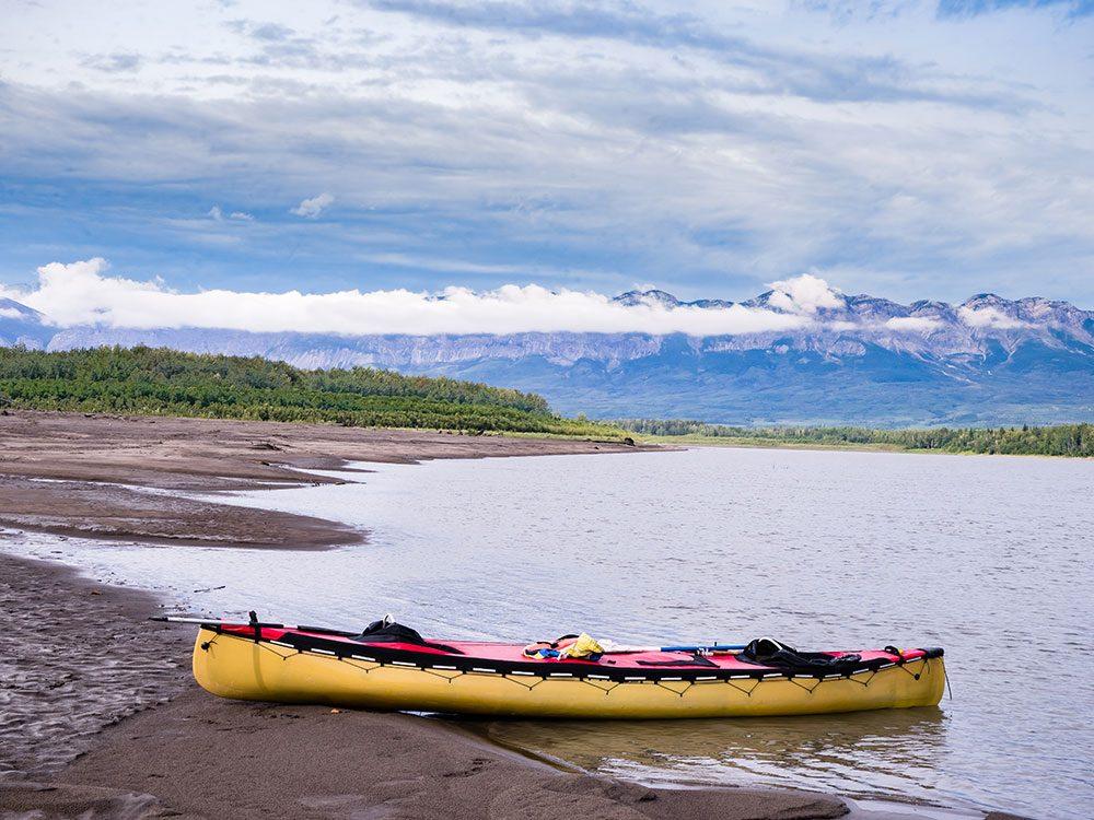 Canoe the Liard River in Canada's Yukon Territory