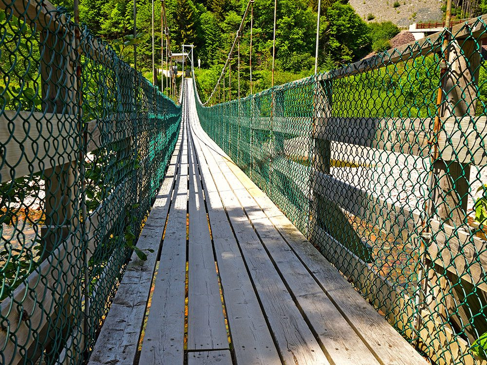 Fundy Trail, Big Salmon River suspension bridge, New Brunswick