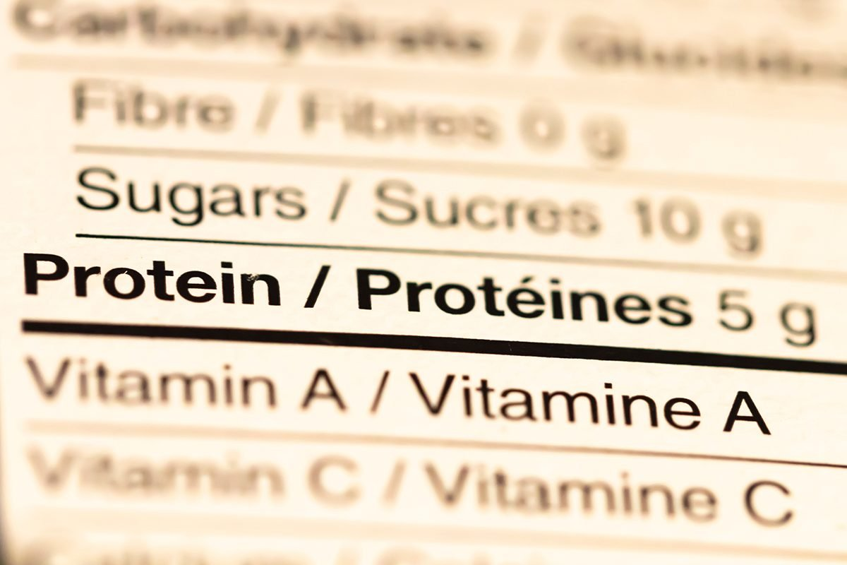 How to read nutrition label Canada - protein