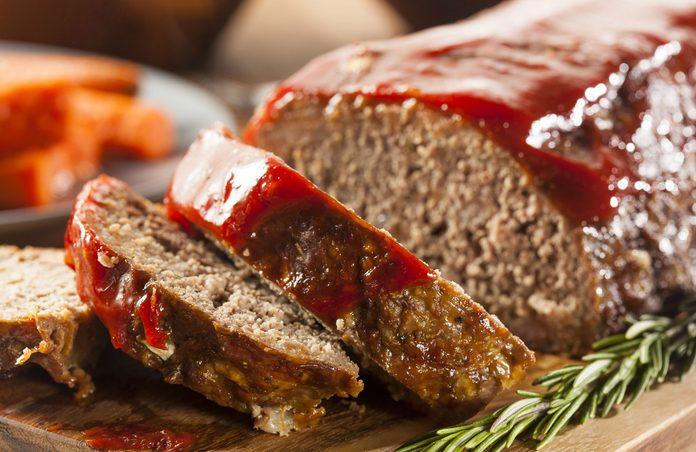 Ground beef meatloaf