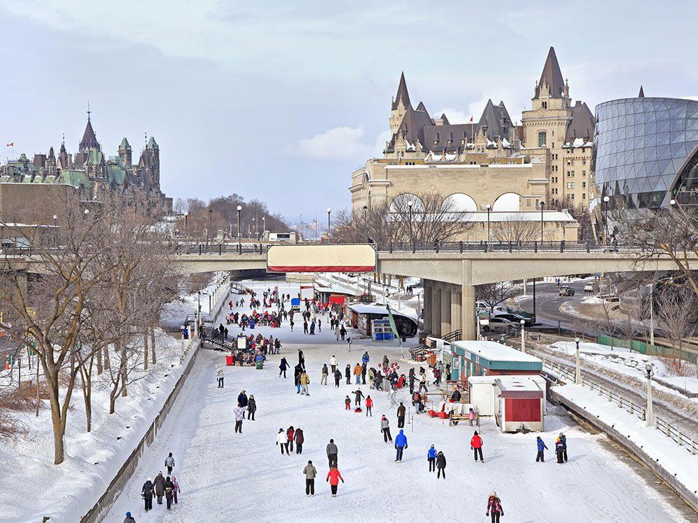 Rideau Canal skateway in Ottawa