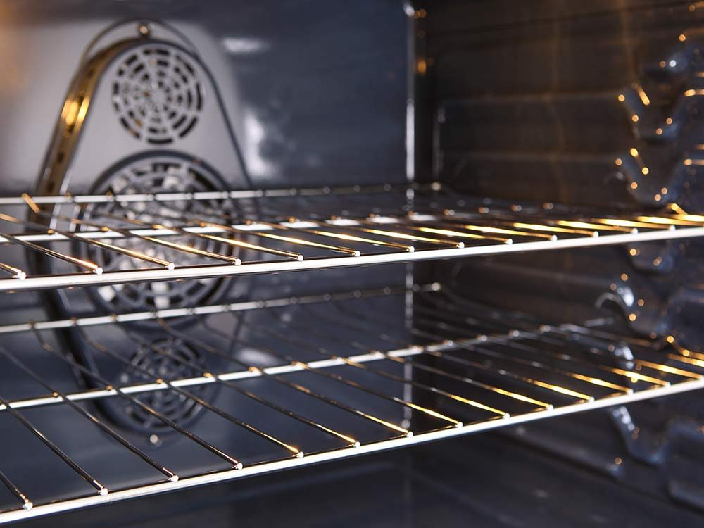 Use ammonia to clean oven racks