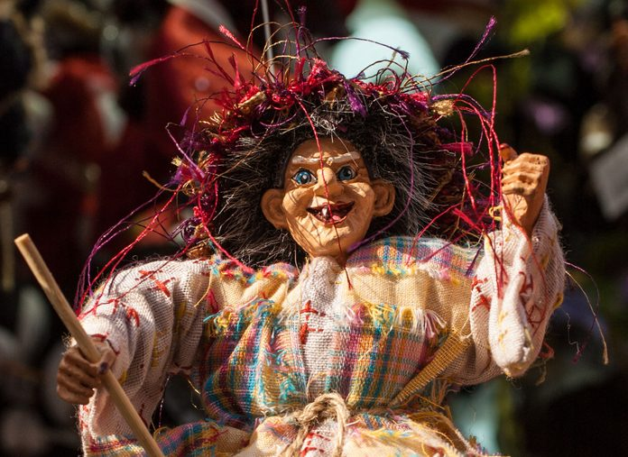 Befana puppet in Italy