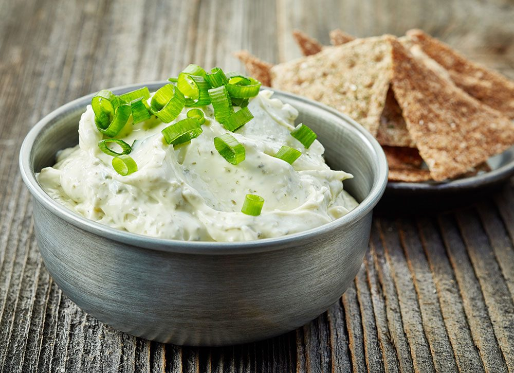 Sour cream and green onion dip
