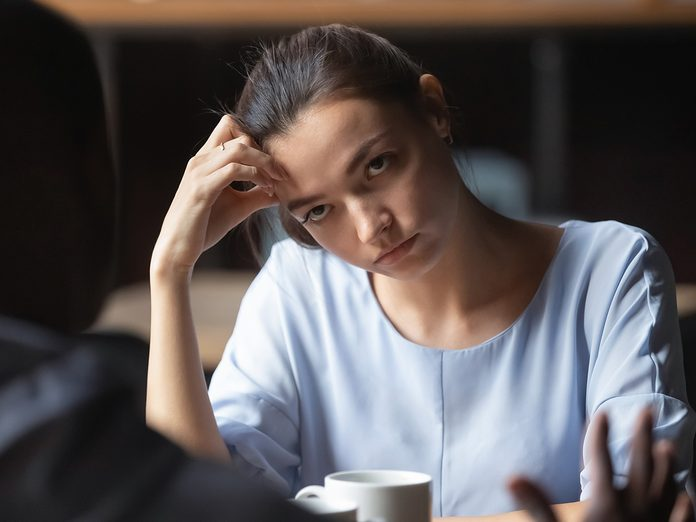 How to end a toxic friendship - woman annoyed at friend