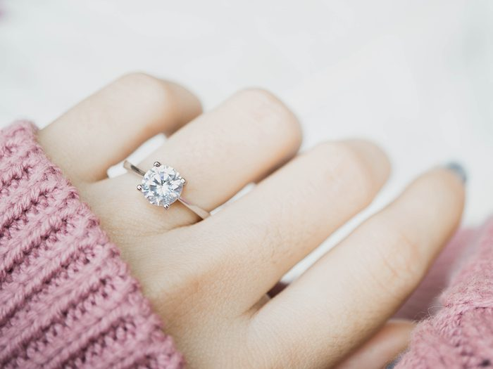 Things to do with toothpaste - diamond ring