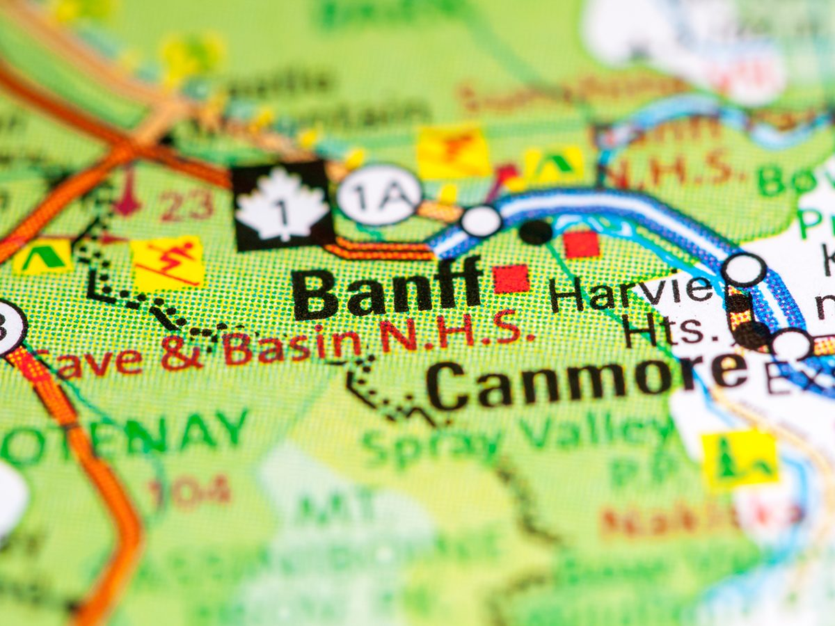 Banff on map