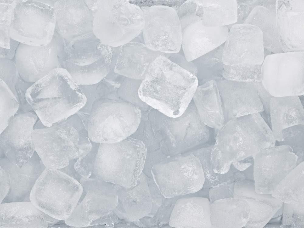 Frozen ice cubes