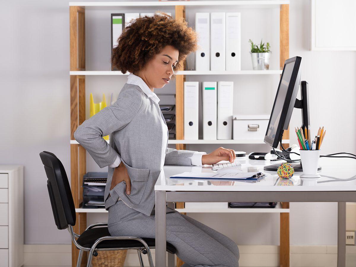 Stiff neck remedies - posture at work