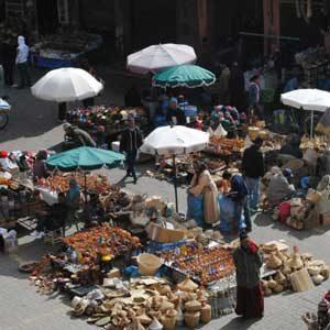 2. Marrakesh Market, Morocco