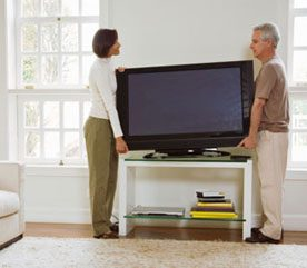 17. Even if You're Hanging Your TV on the Wall, Keep the Stand