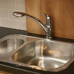 3. Shine Stainless Steel Sinks and Chrome Trim