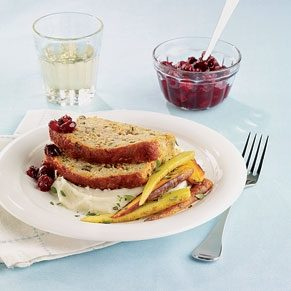 Turkey Vegetable Meat Loaf With Cranberry Salsa