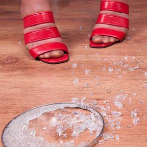 1. Safely Pick Up Glass Shards