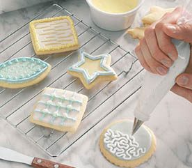 1. Glazing and Decorating Sugar Cookies