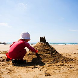 Things to do with ice cream scoops: Create Sand Castles