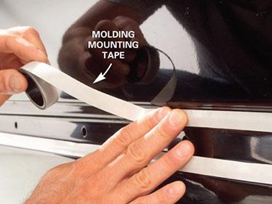 Apply Molding Tape to Car