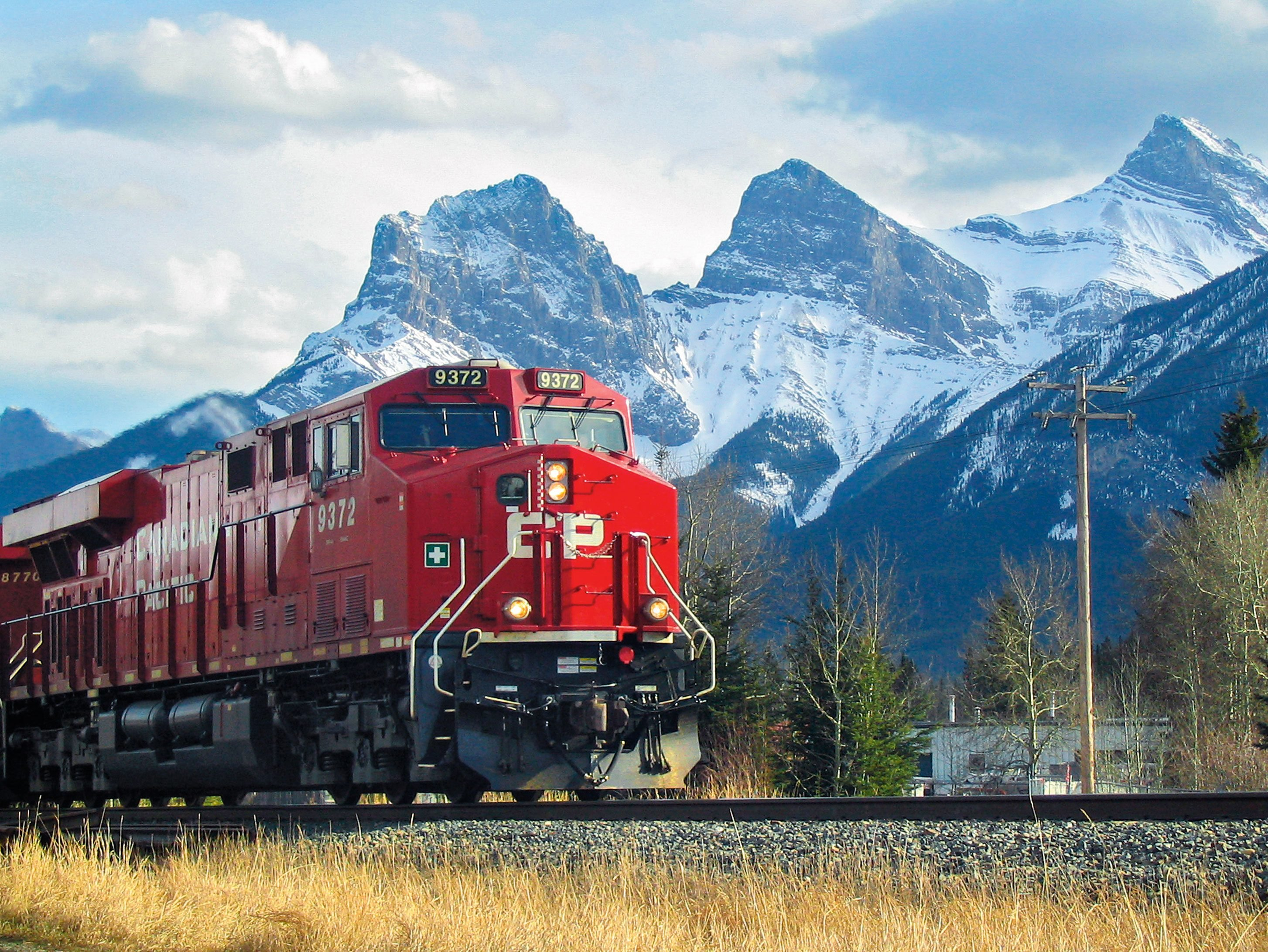 Train spotting in Canmore, Alta.