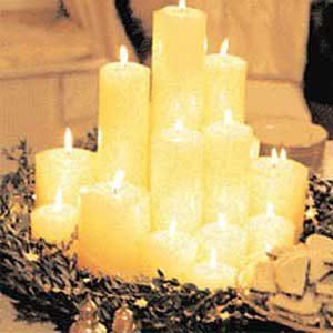 4. Pillar Candle Centerpiece
