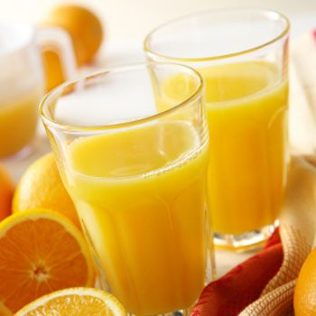 1. Drink two glasses of orange juice every morning