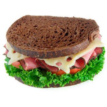 4. Fix all your sandwiches on whole grain bread