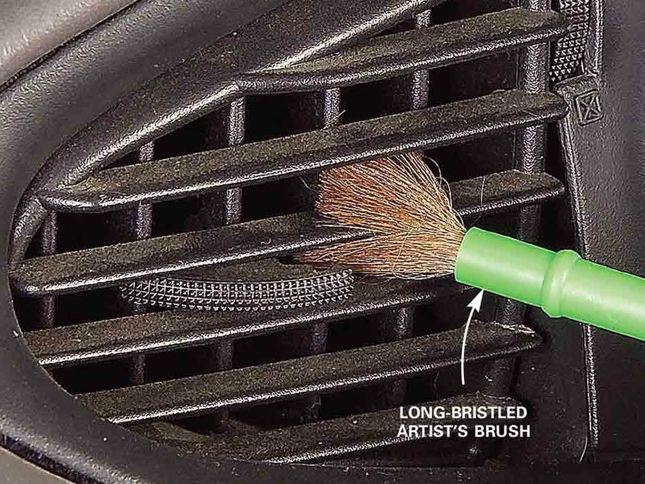 12. Brush out air vents