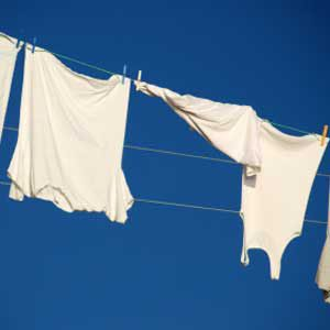 3. Hang Clothes Out to Dry