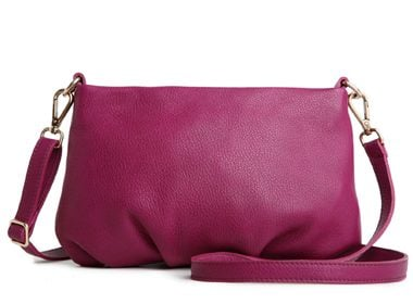 Roots Leather Clutch