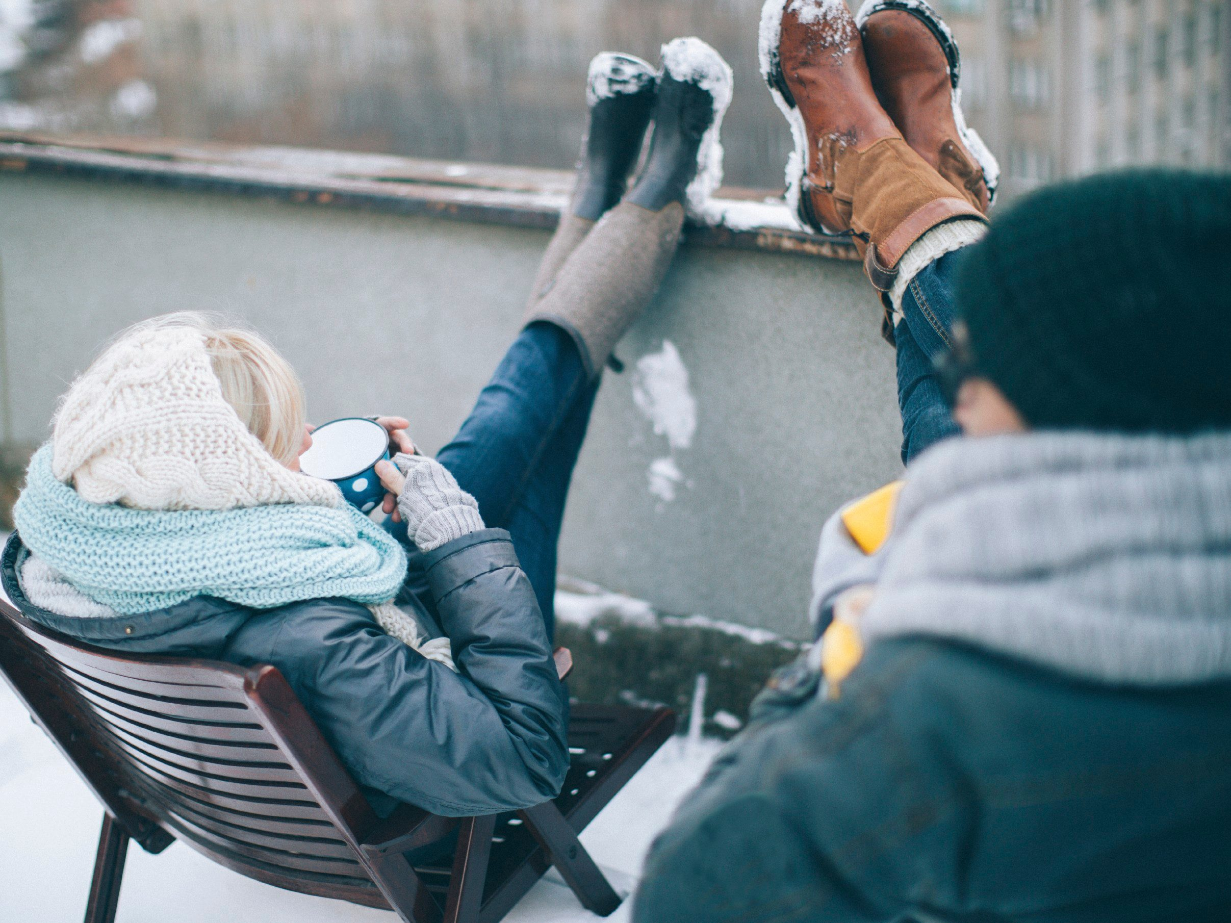 5. Keep your feet warm and dry