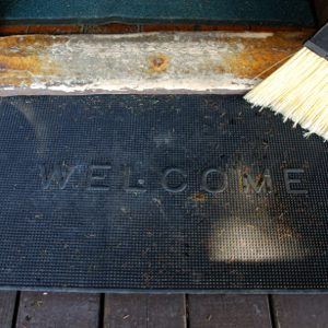 4. Choose a Doormat Made of Synthetic Material.