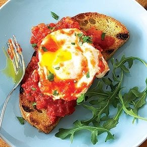 Monday: Eggs Poached in Tomato Sauce
