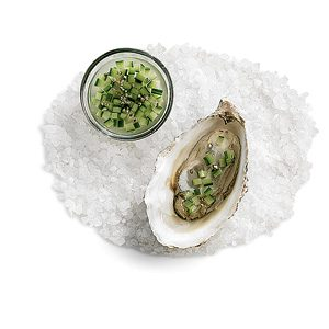 Gin and Cucumber Oysters