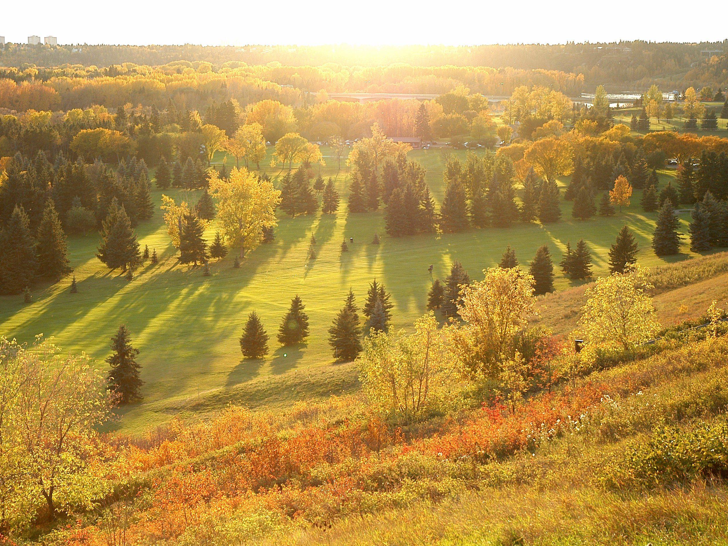 Golfing Down the River in Edmonton