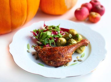 Roast Goose with Dried Apple Stuffing