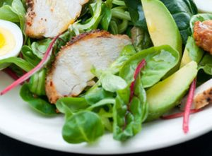 Grilled Chicken, Honeydew and Avocado Salad