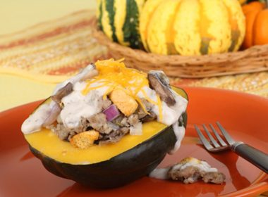 Gratineed Baked Squash Halves