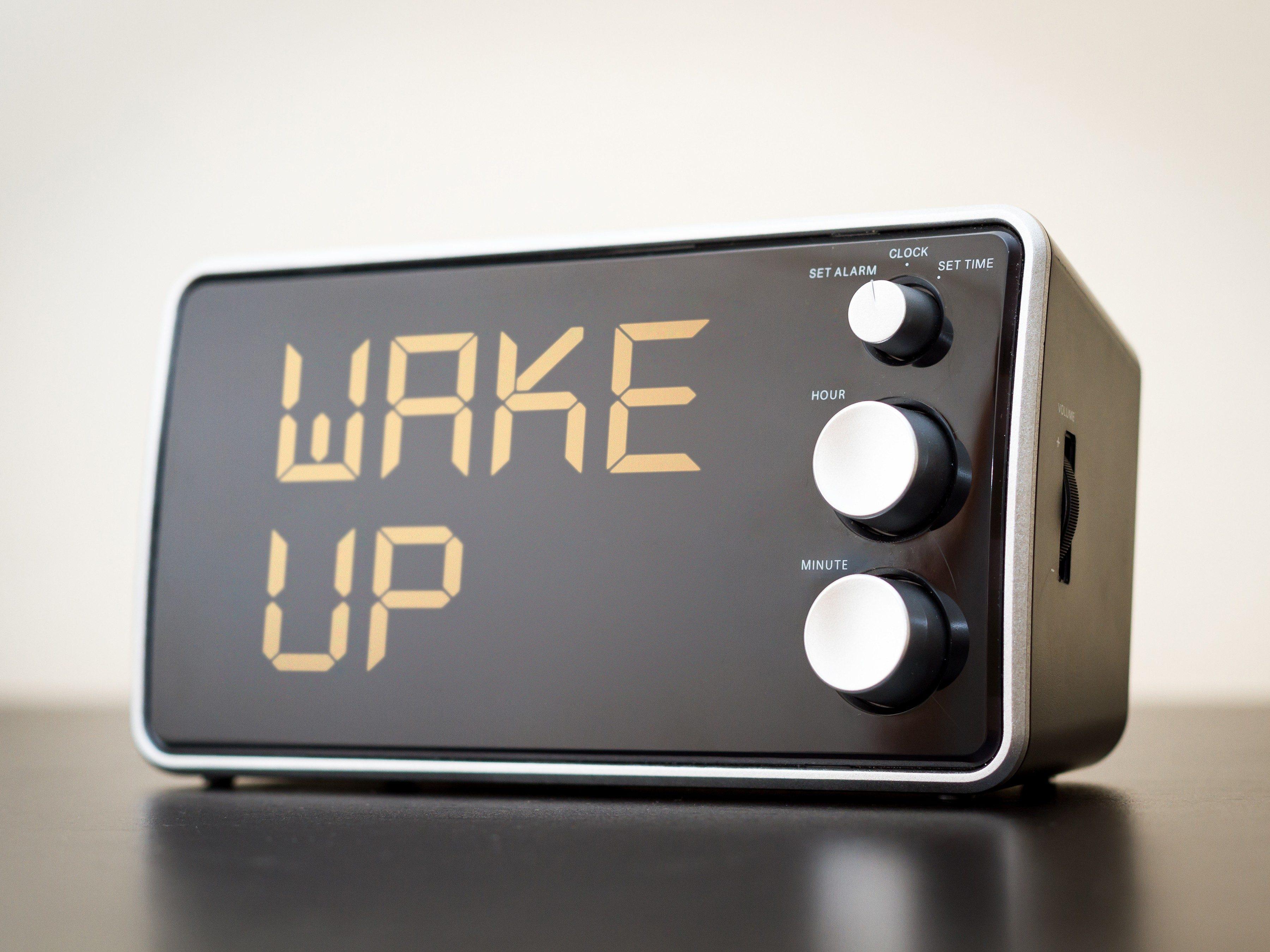 3. Get a better sleep by hiding the bedside clock
