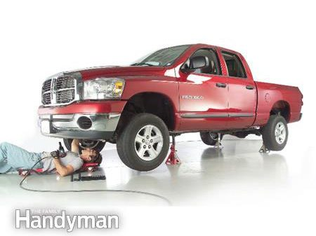 How to Jack and Support a Truck: Step 1